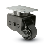 Low Profile Shock Absorbing Caster