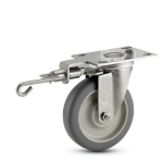 Foot-operable Directional Lock Caster