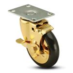 Polished Brass Caster